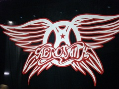 Aerosmith stage curtain