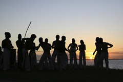 Capoeira in the sunset